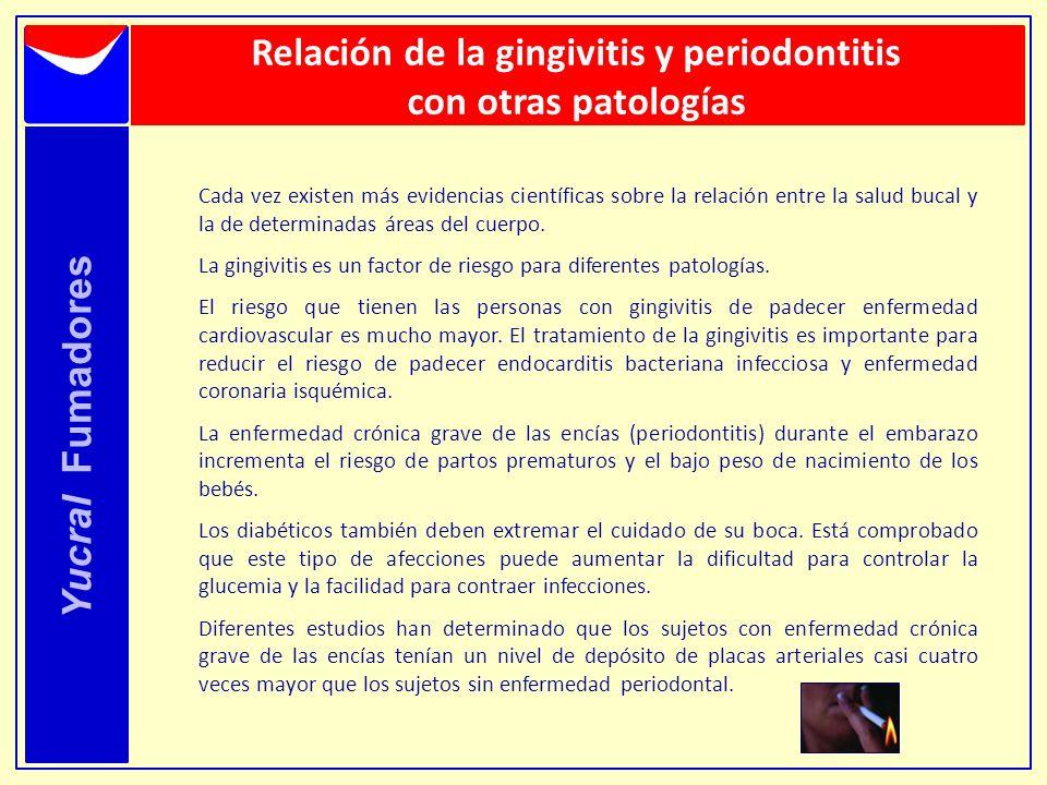 Relación de la gingivitis y periodontitis