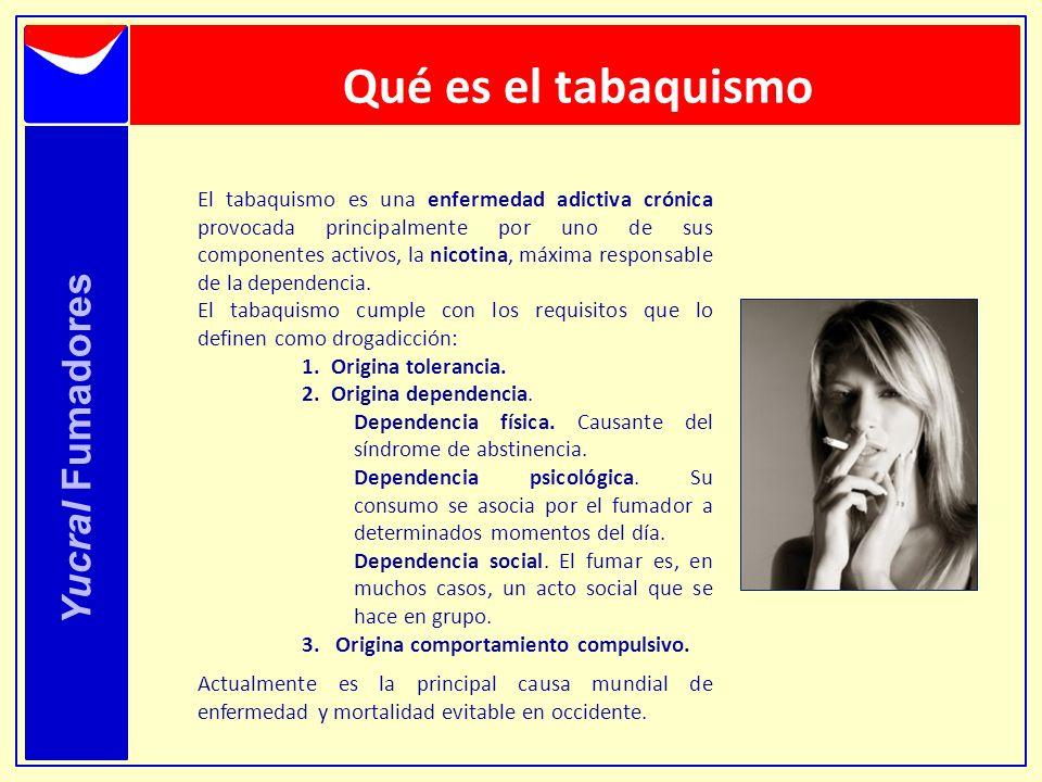 Qué es el tabaquismo