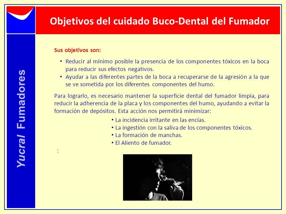 Objetivos del cuidado Buco-Dental del Fumador