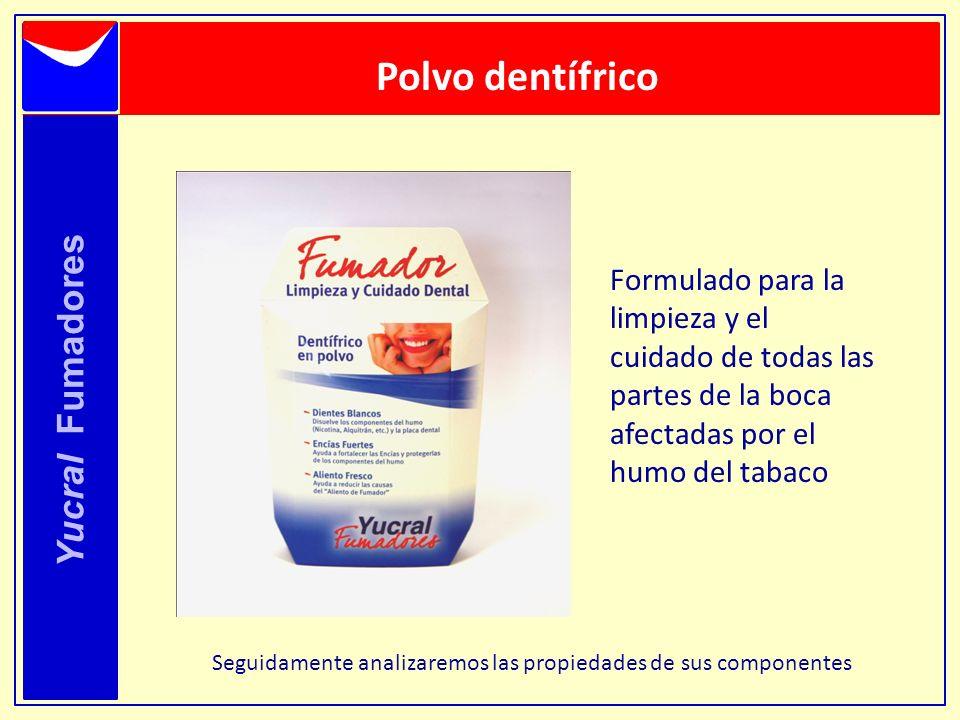 Polvo dentífrico Yucral Fumadores