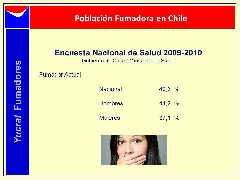 Población Fumadora en Chile Encuesta Nacional de Salud 2009-2010