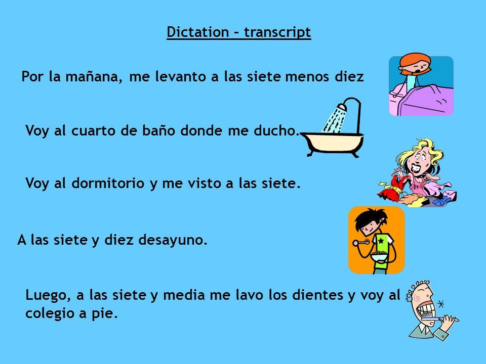 Dictation – transcript