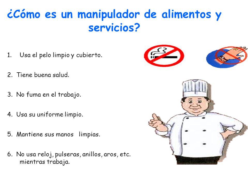 ¿Cómo es un manipulador de alimentos y servicios