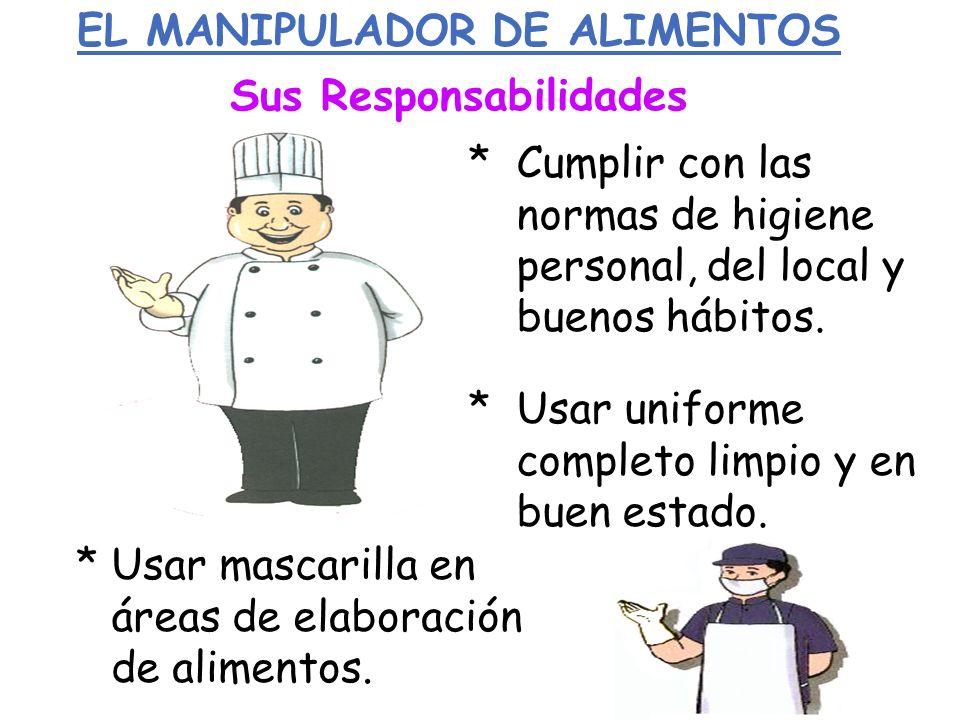 EL MANIPULADOR DE ALIMENTOS Sus Responsabilidades