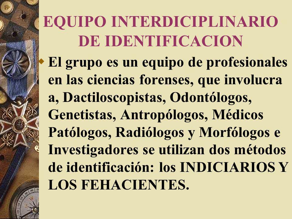 EQUIPO INTERDICIPLINARIO DE IDENTIFICACION