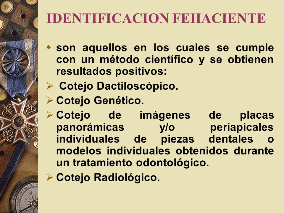IDENTIFICACION FEHACIENTE