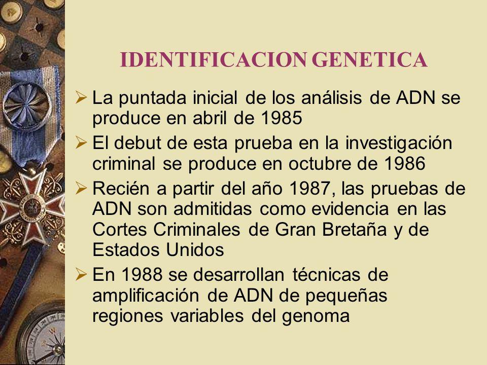 IDENTIFICACION GENETICA
