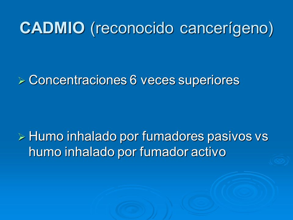 CADMIO (reconocido cancerígeno)