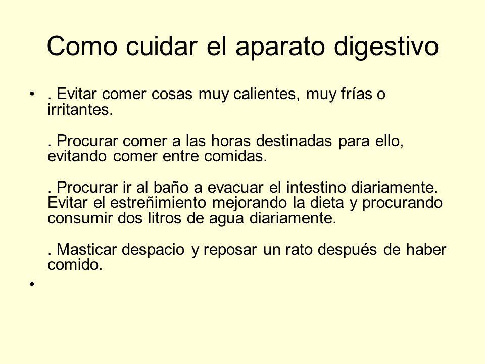 Como cuidar el aparato digestivo