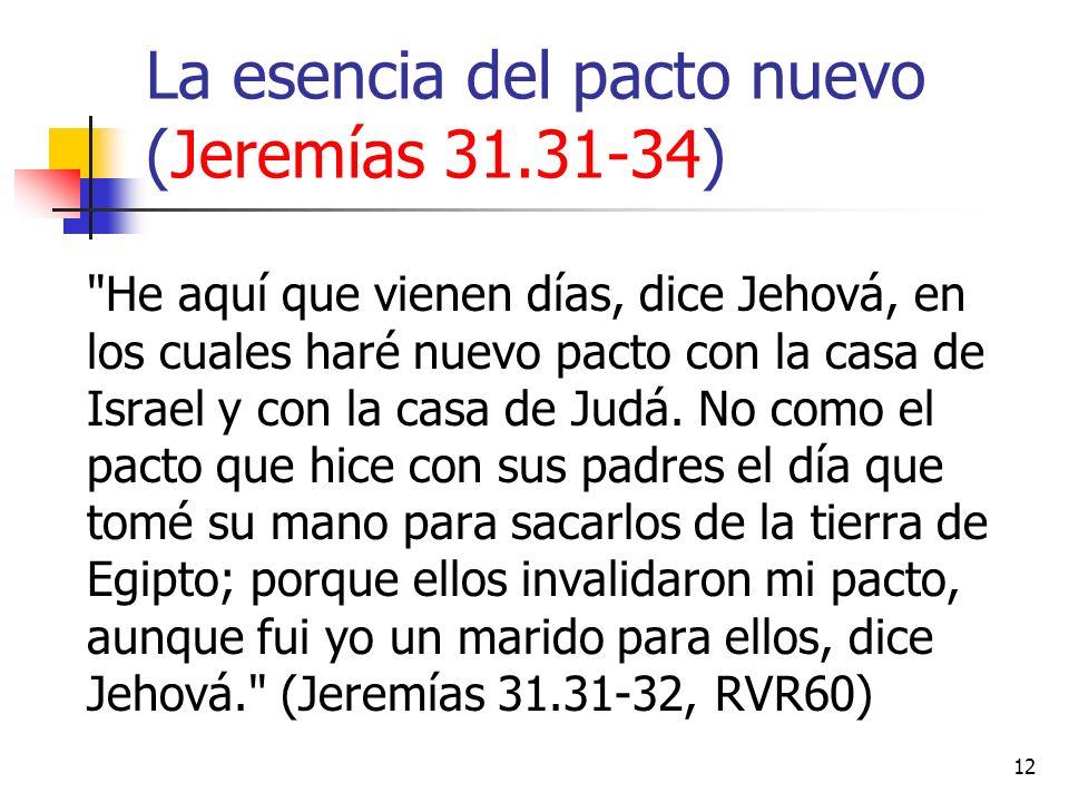La esencia del pacto nuevo (Jeremías 31.31-34)