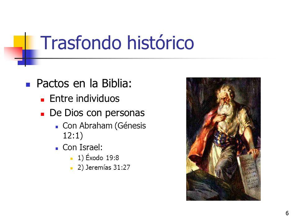 Trasfondo histórico Pactos en la Biblia: Entre individuos