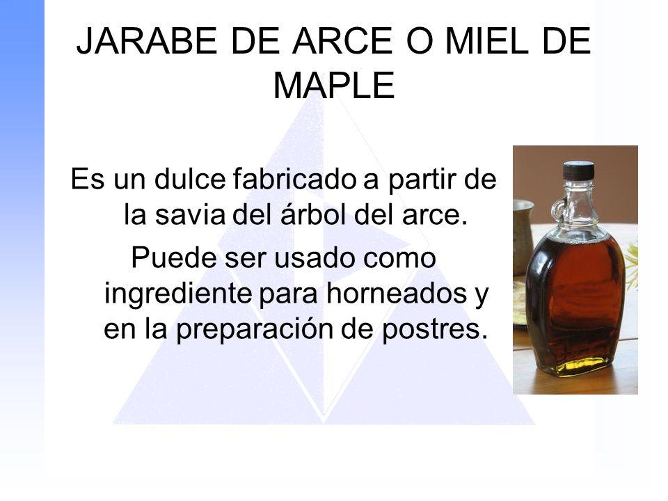 JARABE DE ARCE O MIEL DE MAPLE