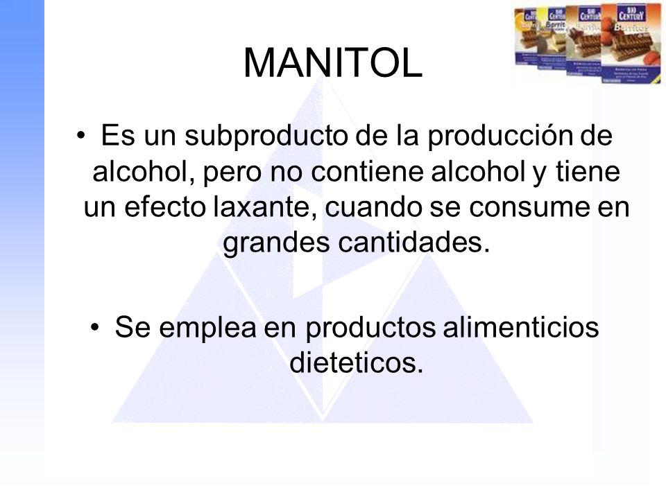 Se emplea en productos alimenticios dieteticos.