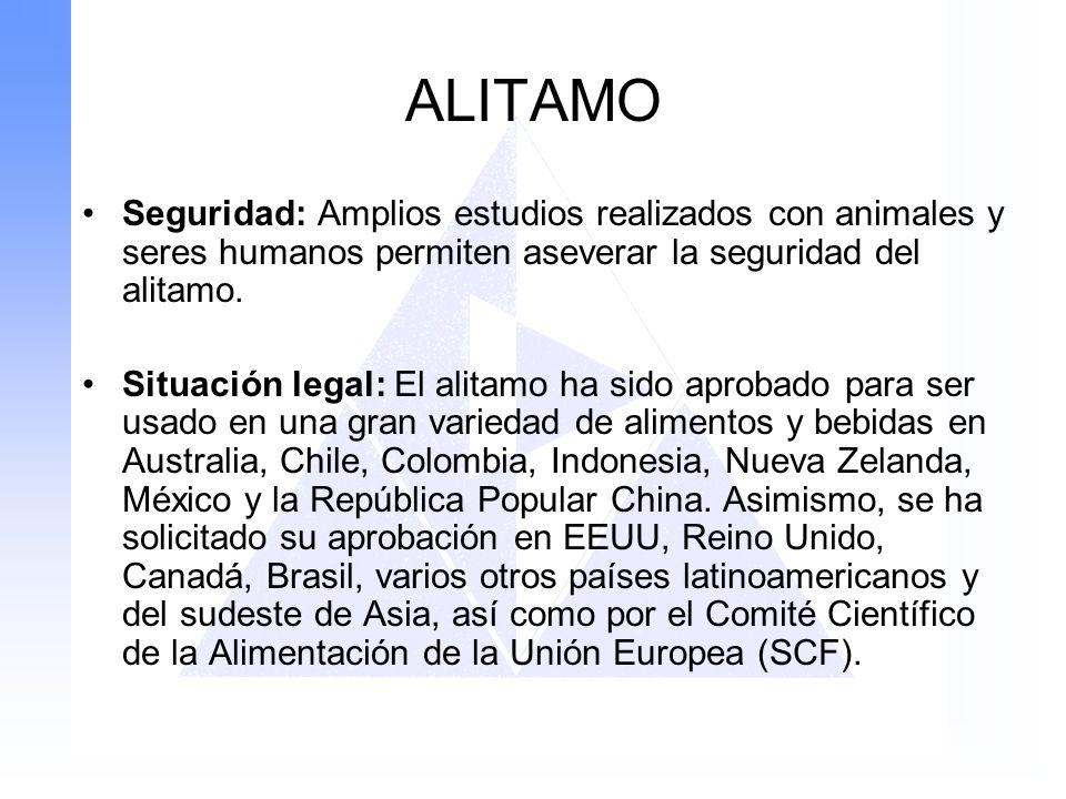 ALITAMO Seguridad: Amplios estudios realizados con animales y seres humanos permiten aseverar la seguridad del alitamo.