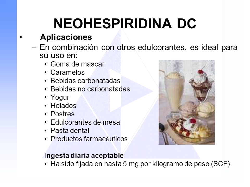 NEOHESPIRIDINA DC Aplicaciones