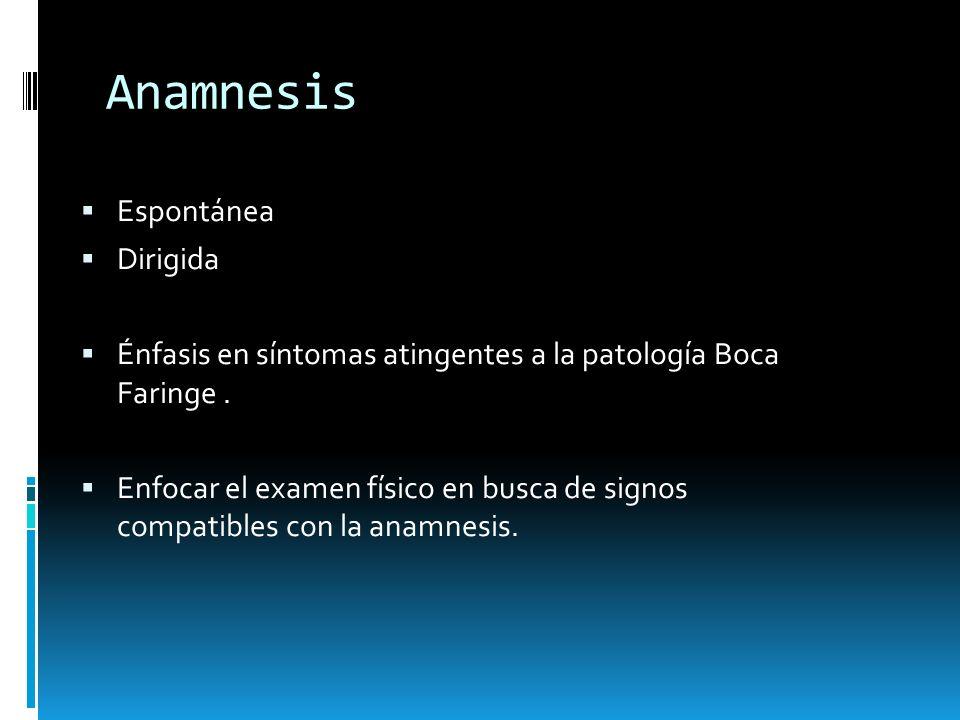 Anamnesis Espontánea Dirigida