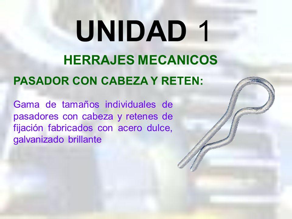 UNIDAD 1 HERRAJES MECANICOS PASADOR CON CABEZA Y RETEN: