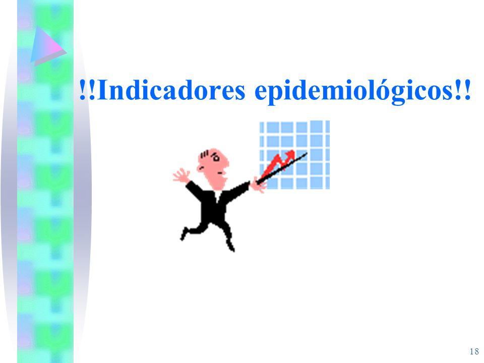 !!Indicadores epidemiológicos!!
