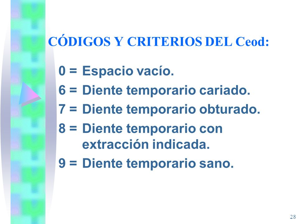 CÓDIGOS Y CRITERIOS DEL Ceod: