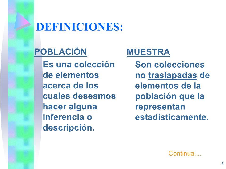 DEFINICIONES: POBLACIÓN