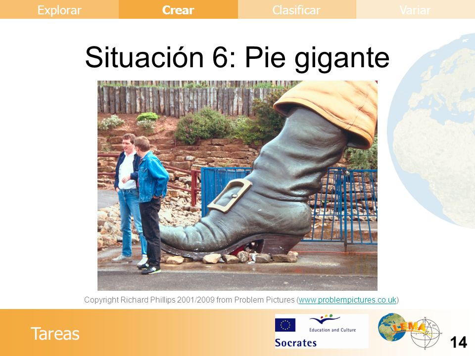 Situación 6: Pie gigante