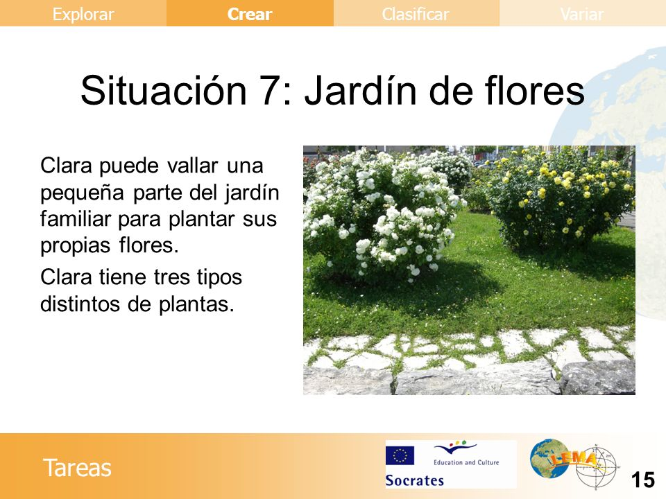 Situación 7: Jardín de flores
