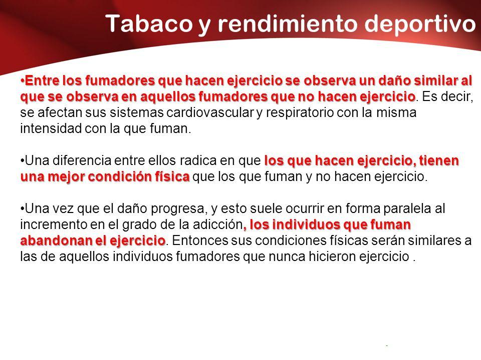 Tabaco y rendimiento deportivo