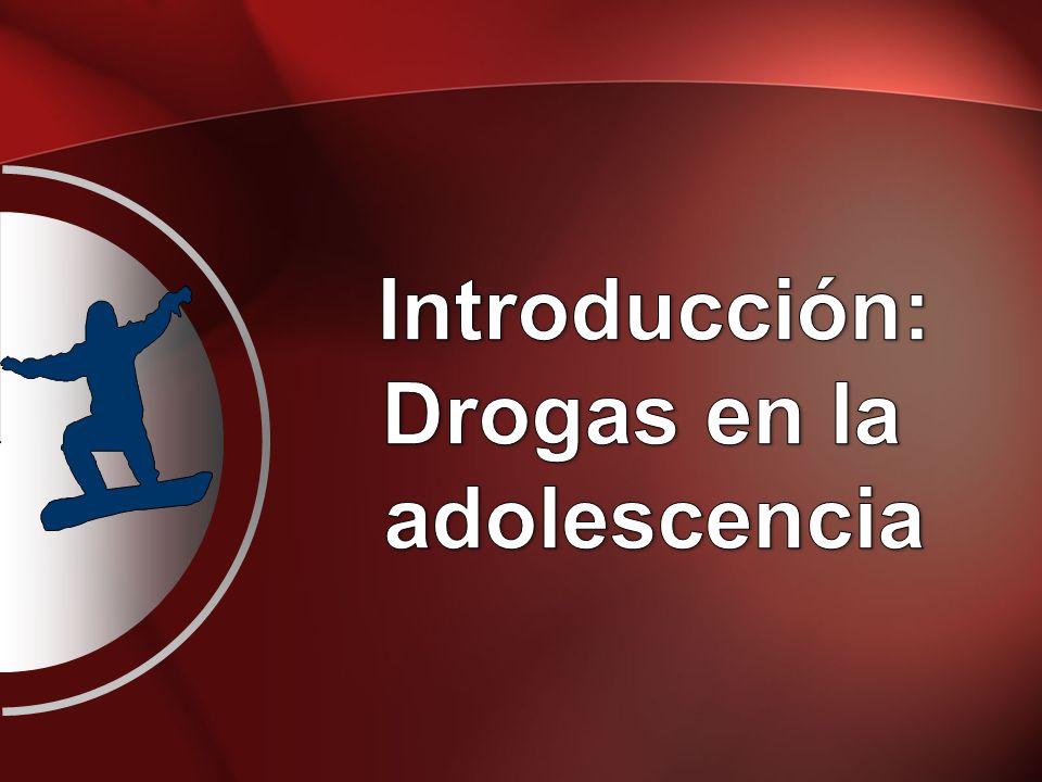 Introducción: Drogas en la adolescencia