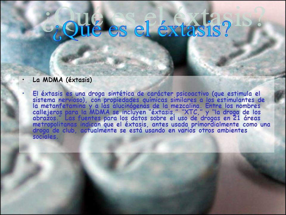 ¿Qué es el éxtasis La MDMA (éxtasis)