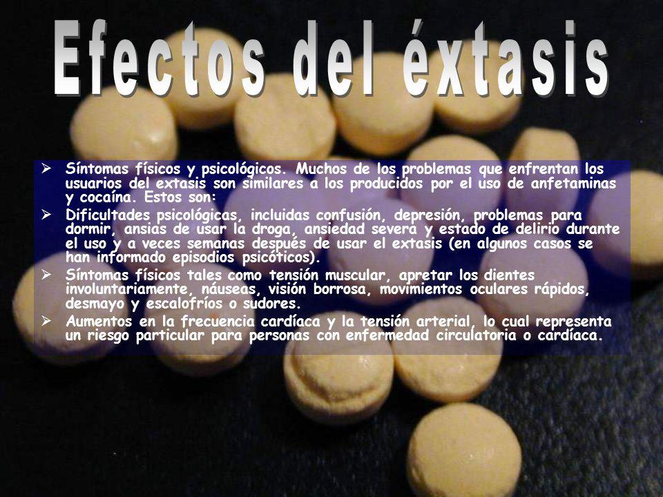 Efectos del éxtasis