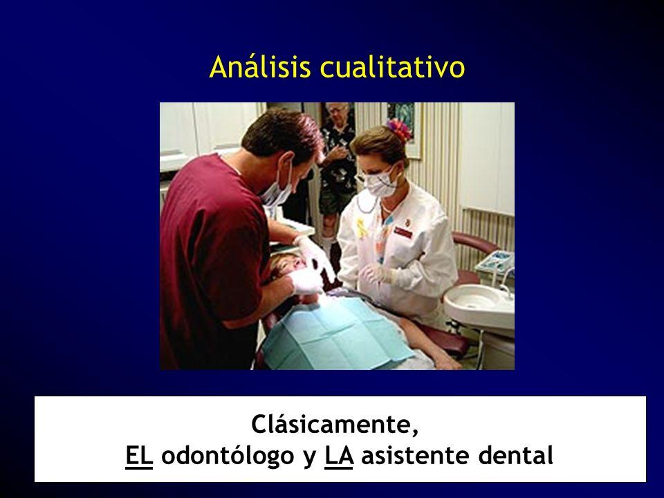 Clásicamente, EL odontólogo y LA asistente dental