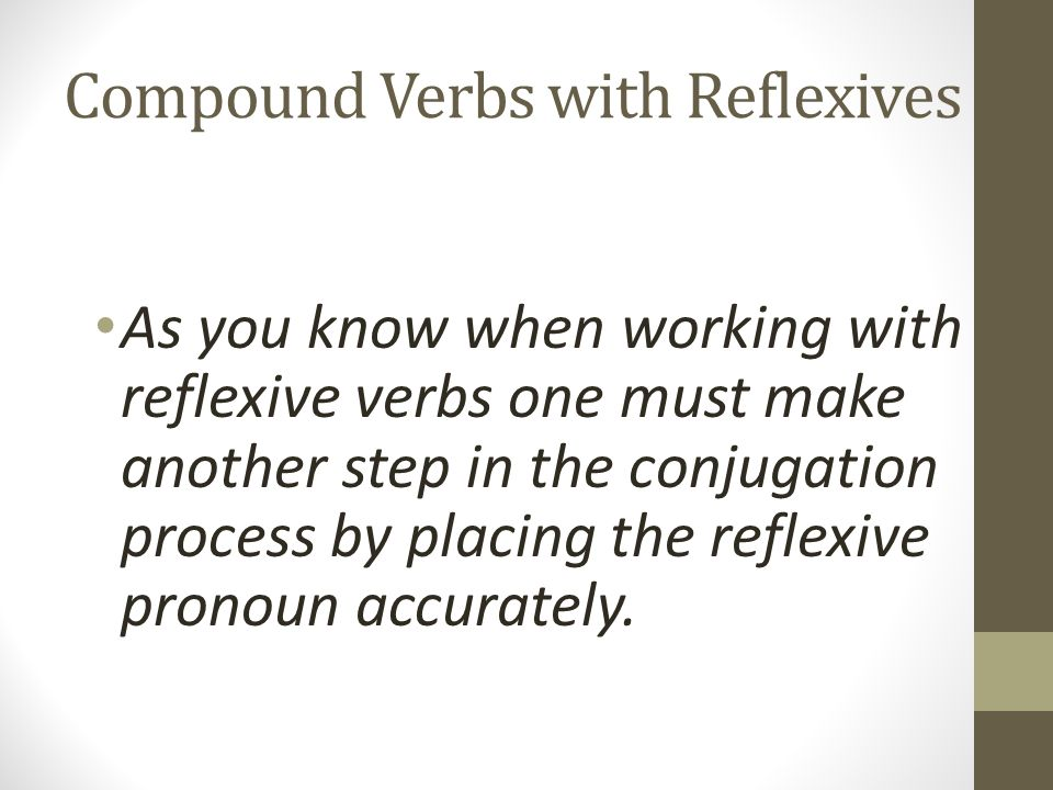 Compound Verbs with Reflexives