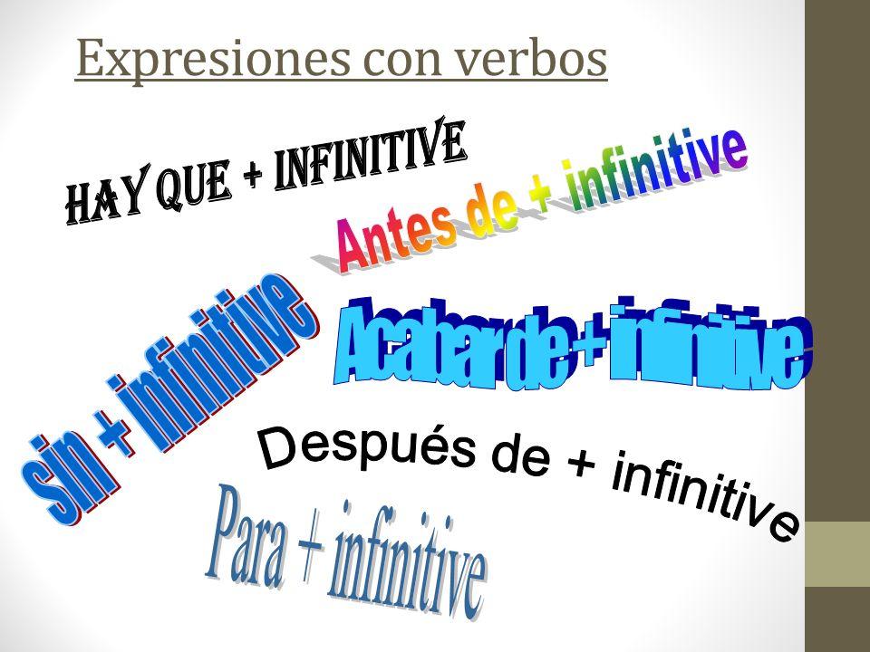 Expresiones con verbos