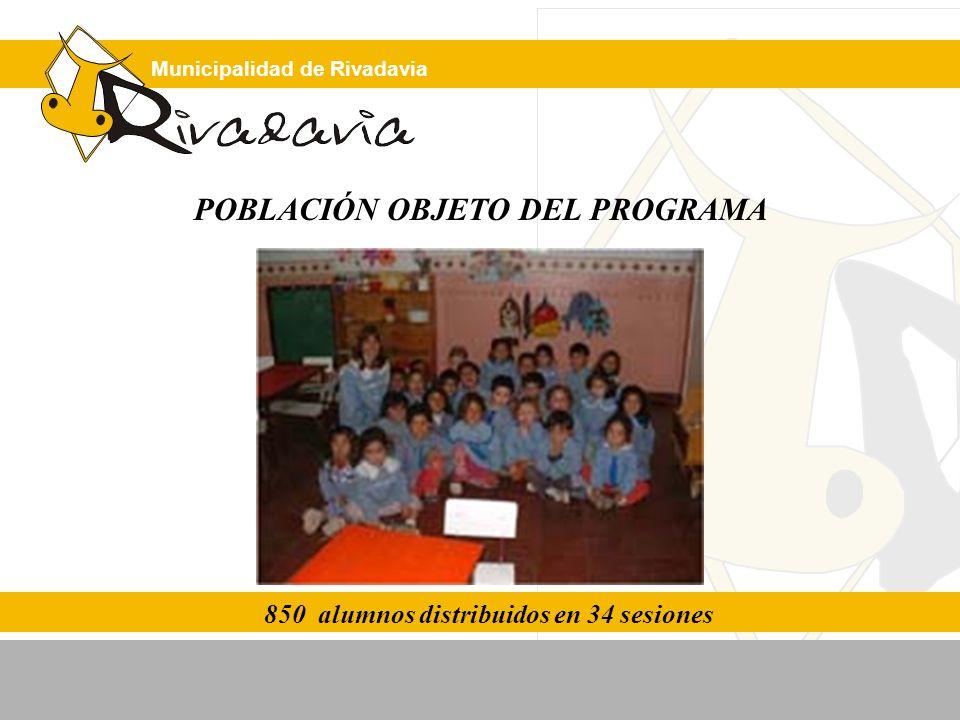 850 alumnos distribuidos en 34 sesiones