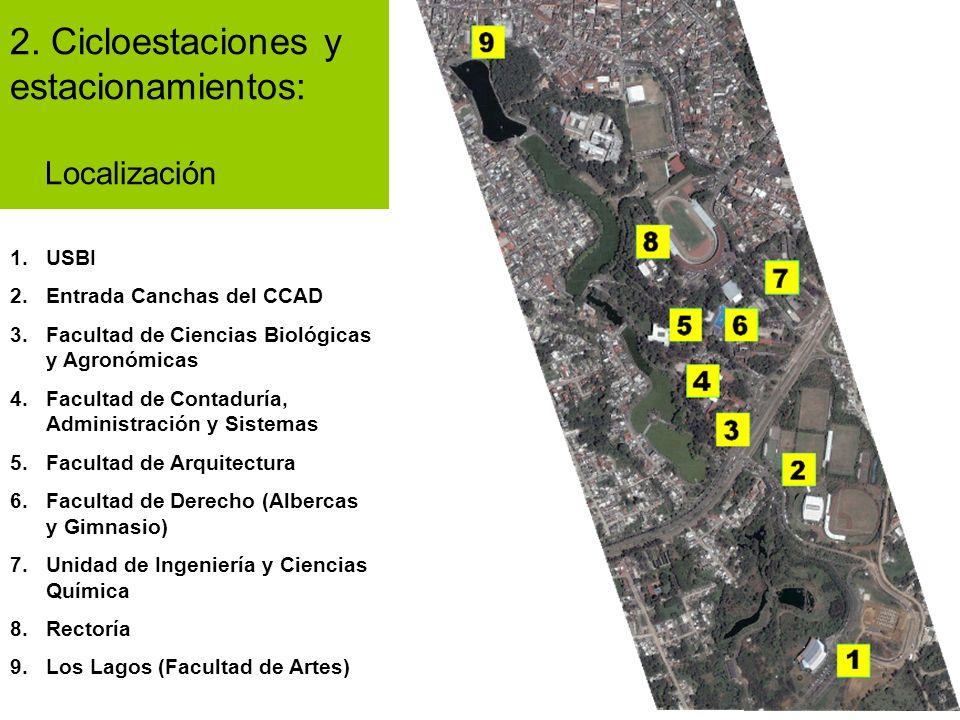 2. Cicloestaciones y estacionamientos: Localización