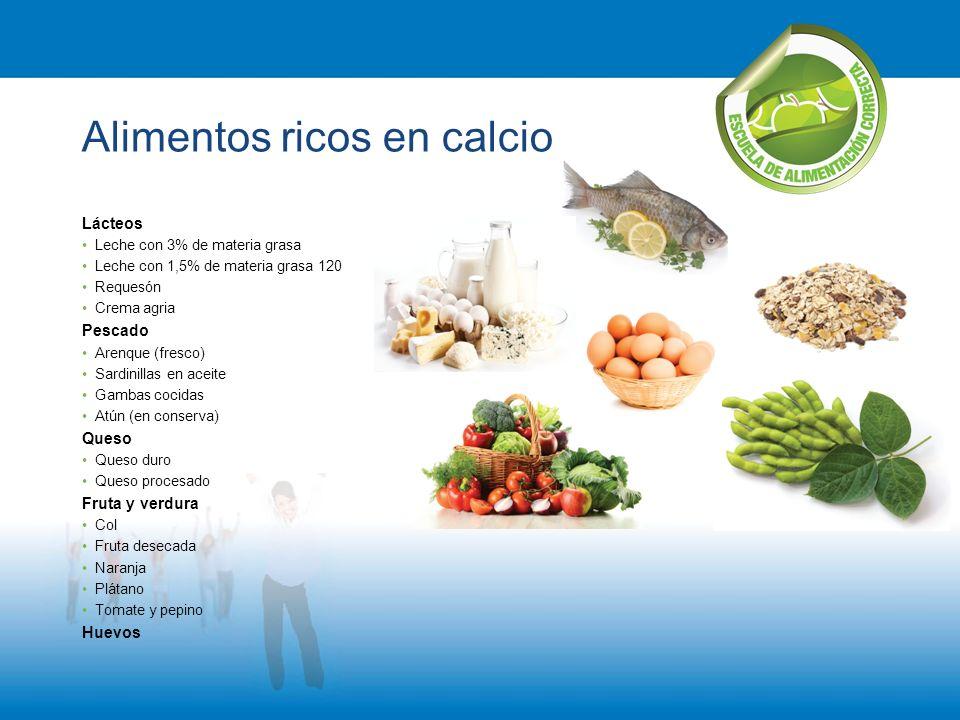 Escuela de alimentaci n correcta ppt descargar - Alimentos que tienen calcio ...