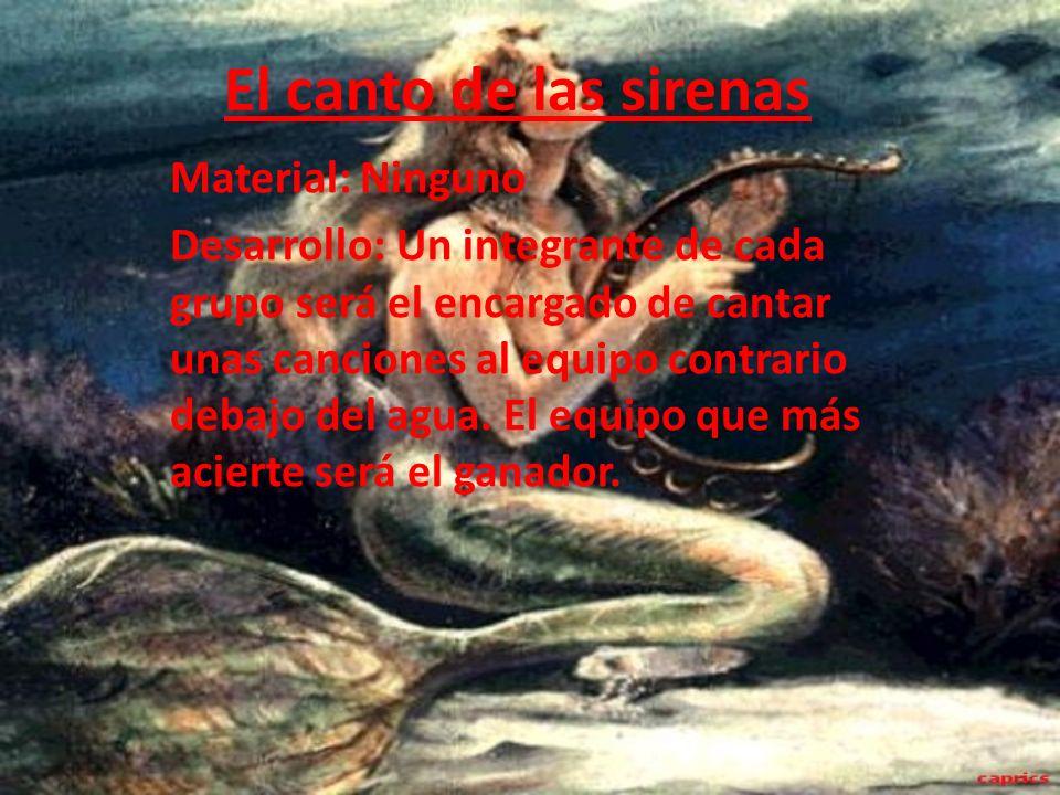 El canto de las sirenas Material: Ninguno