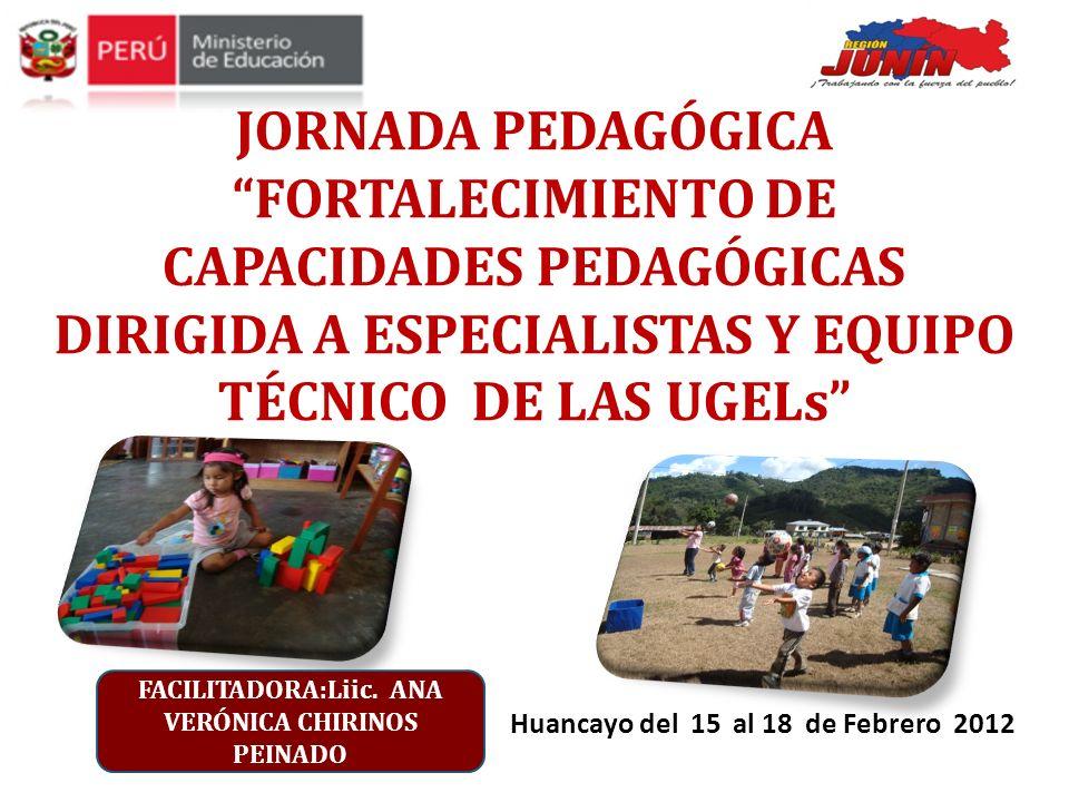 JORNADA PEDAGÓGICA FORTALECIMIENTO DE CAPACIDADES PEDAGÓGICAS DIRIGIDA A ESPECIALISTAS Y EQUIPO TÉCNICO DE LAS UGELs