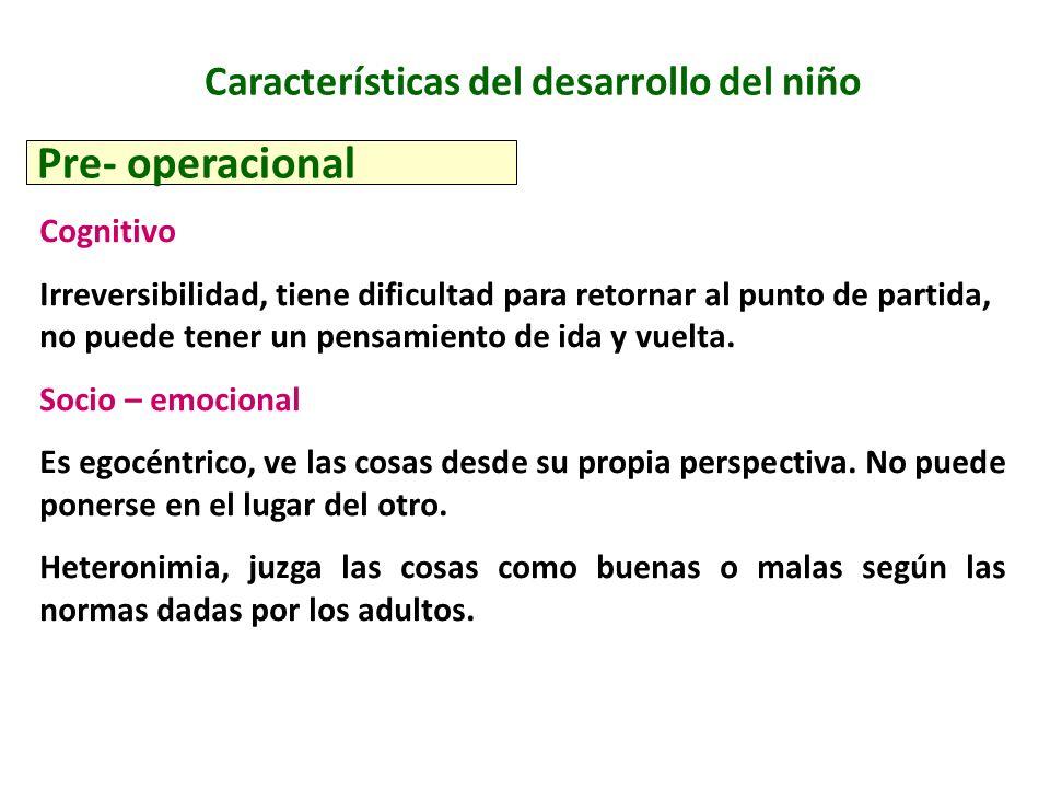 Características del desarrollo del niño