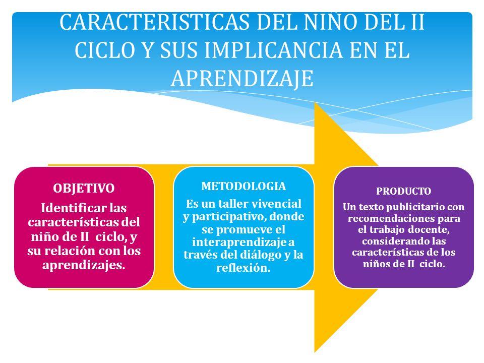CARACTERISTICAS DEL NIÑO DEL II CICLO Y SUS IMPLICANCIA EN EL APRENDIZAJE