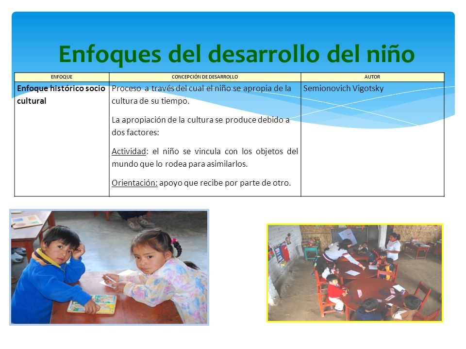Enfoques del desarrollo del niño