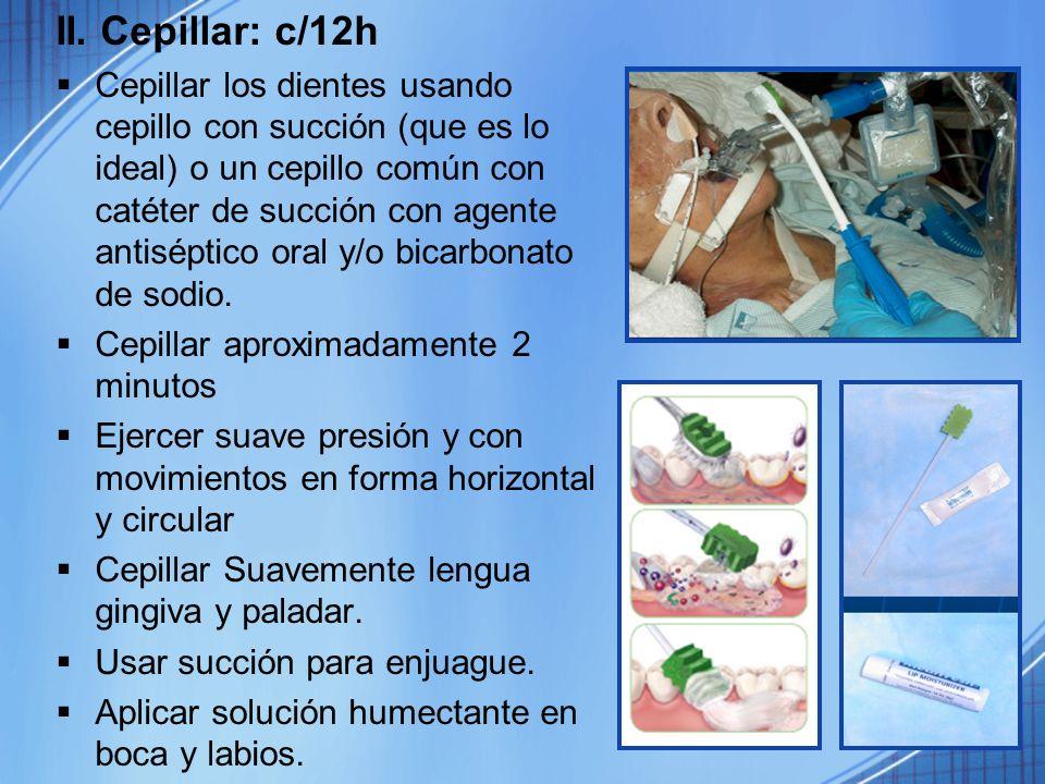 II. Cepillar: c/12h