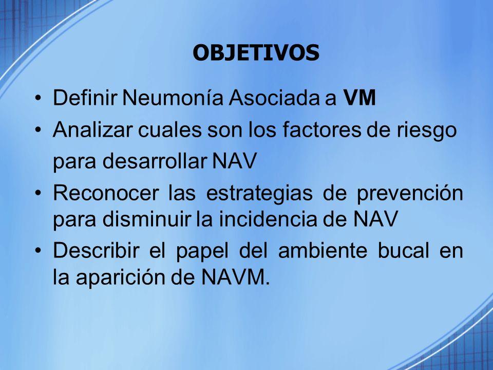 Definir Neumonía Asociada a VM