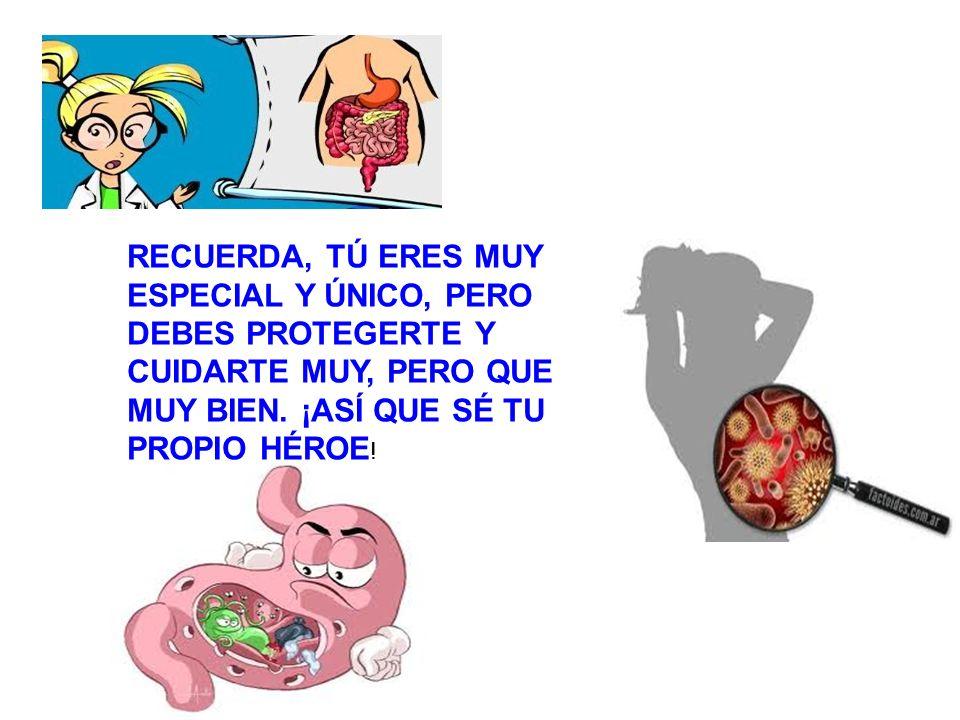 RECUERDA, TÚ ERES MUY ESPECIAL Y ÚNICO, PERO DEBES PROTEGERTE Y CUIDARTE MUY, PERO QUE MUY BIEN.