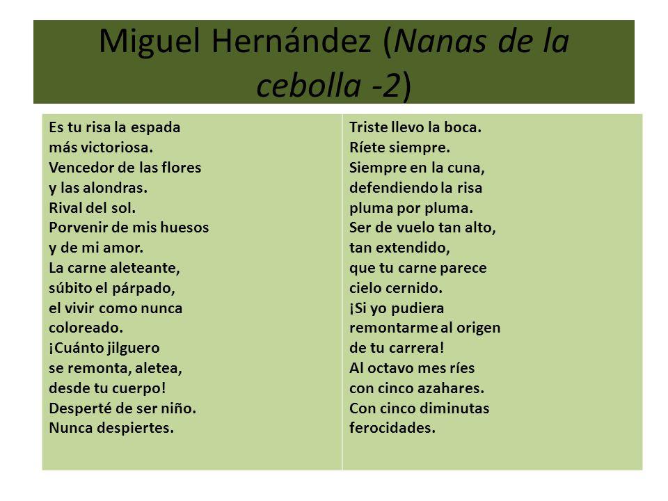 Miguel Hernández (Nanas de la cebolla -2)