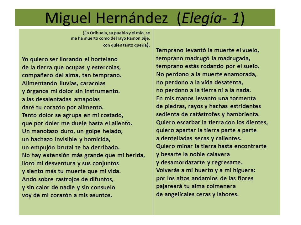 Miguel Hernández (Elegía- 1)
