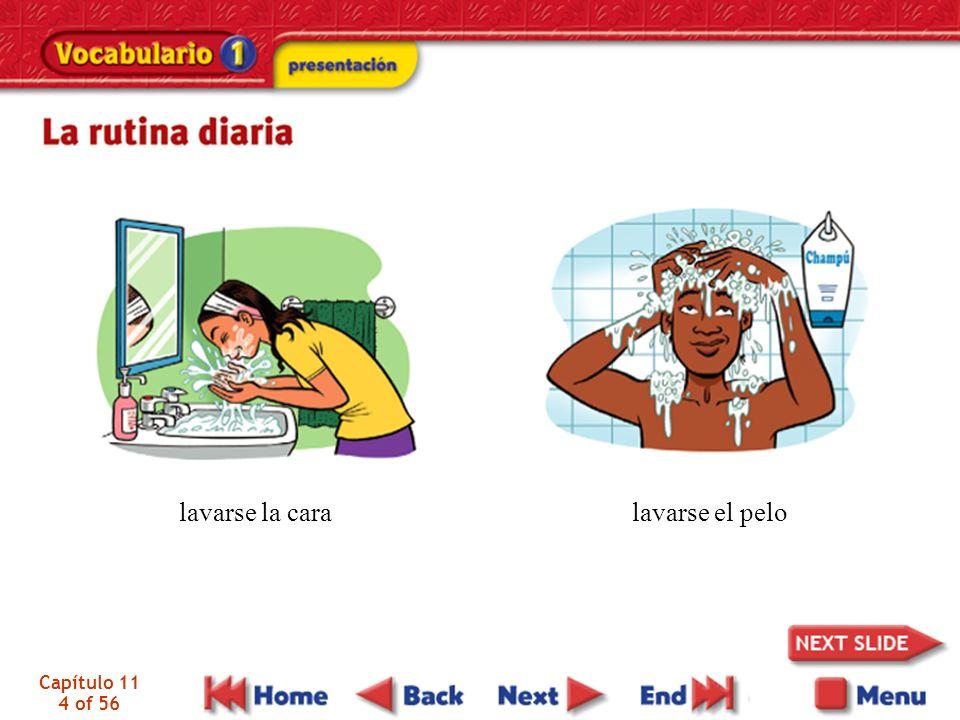 lavarse la cara lavarse el pelo Capítulo 11 4 of 56