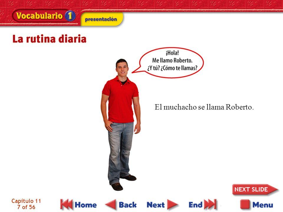 El muchacho se llama Roberto.