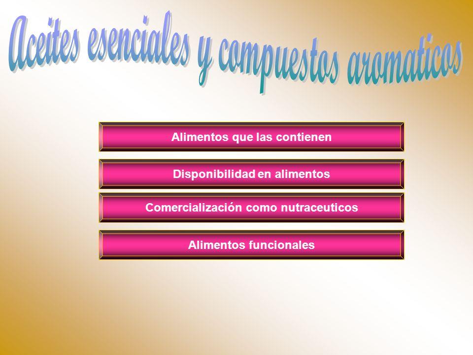 Aceites esenciales y compuestos aromaticos