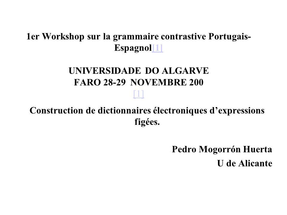 Construction de dictionnaires électroniques d'expressions figées.